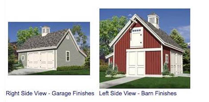 Woodberry Two-Car Pole-Frame Barn Garage and Workshop