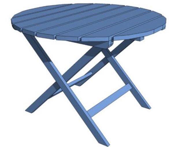 Round Adirondack Side Table
