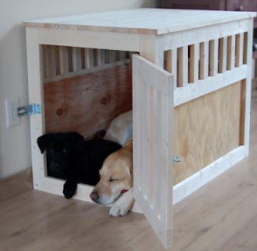 Build a Dog Kennel End Table using free plans.