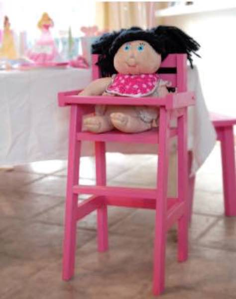 Free plans to build a Doll High Chair.