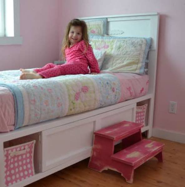 Free plans to build a Storage Bed Twin Size.