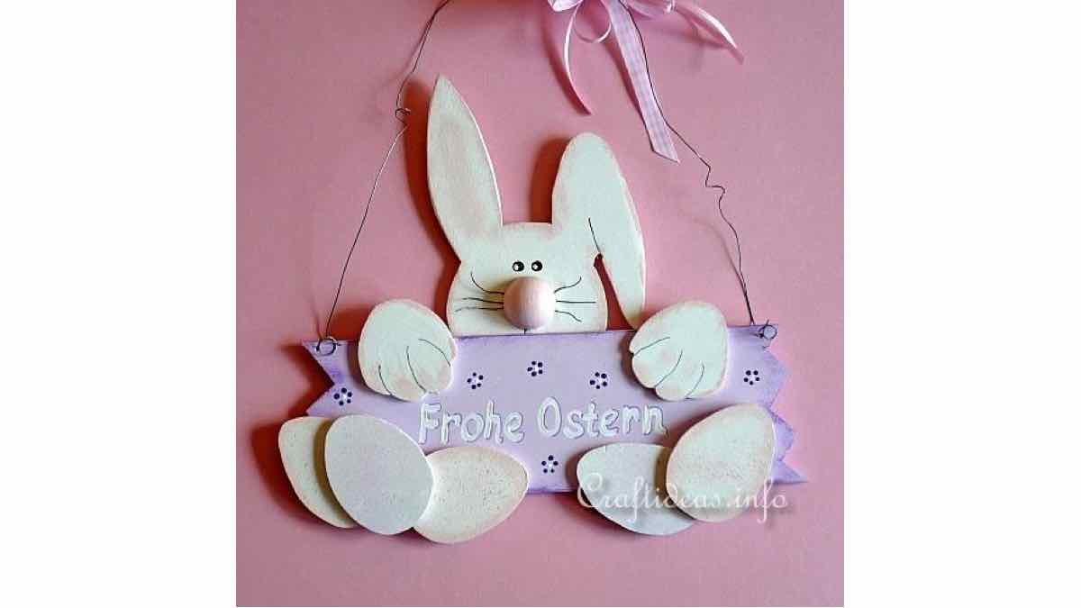 signs,easter,bunnies,plaques,rabbits,welcome,DIY instructions,do it yourself,free woodworking plans,woodworkers projects,plans for how to build