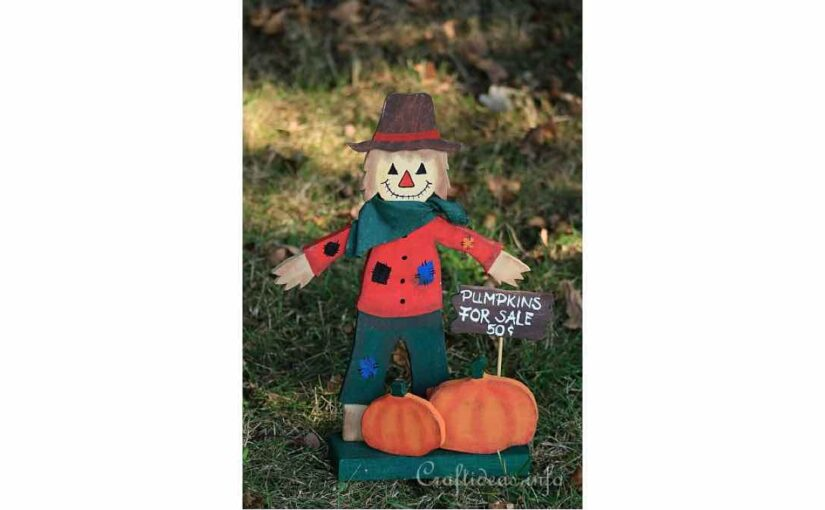 Scarecrow and Pumpkins Craft