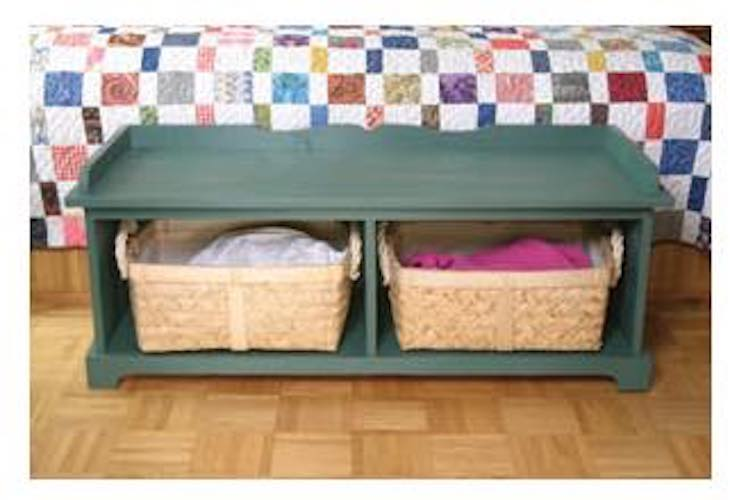 Free plans to build a Basket Bench.