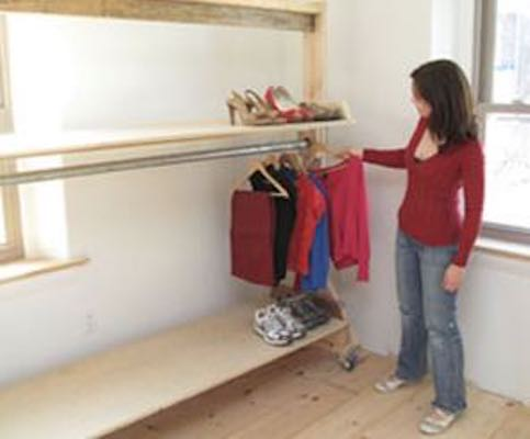 Build a Closet on Wheels using free plans.