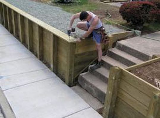 Learn how to Build A Retaining Wall.