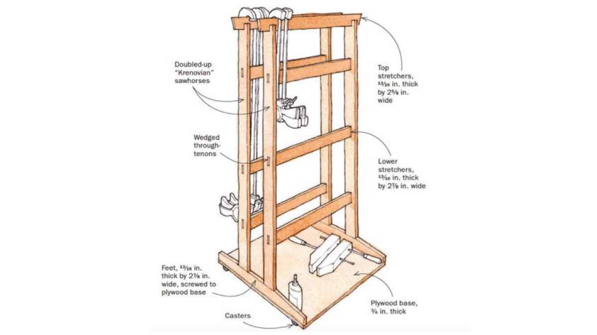 clamp racks,workshop storage,mobile racks,instructions,free woodworking plans,do it yourself