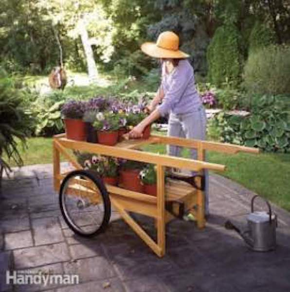 Build a Classic Wooden Cart using free plans.