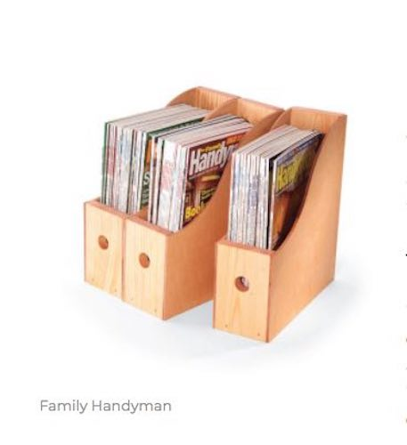 Free plans to build Magazine Storage Containers.