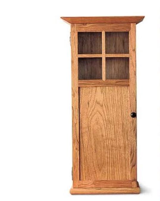 Build a Craftsman Wall Cabinet using free plans.