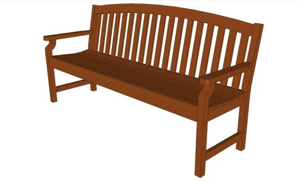 Build an Outdoor Bench with free plans.