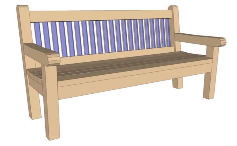 Free plans to build a Outdoor Bench