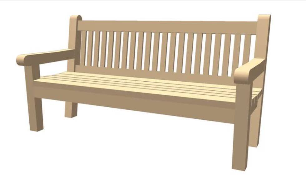 Free plans to build a High Back Wood Bench.