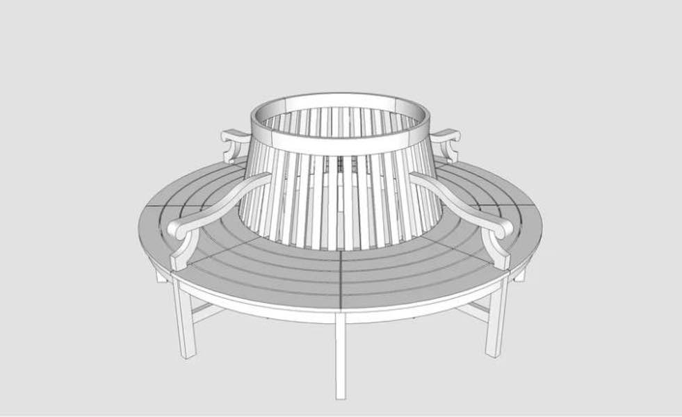 Free plans to build a Tree Bench