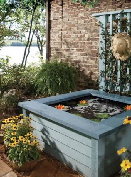 Build your own Outdoor Pond using free plans.
