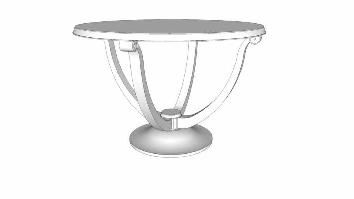 tables,art deco,sketchup,Google 3D,3-D warehouse,furniture,round,drawings,free woodworking plans,projects,do it yourself,woodworkers