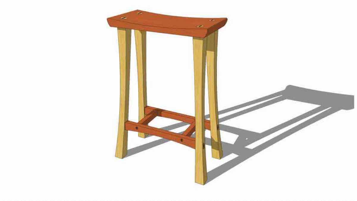 stools,sketchup,Google 3D,wooden,3-D warehouse,furniture,drawings,free woodworking plans,projects,do it yourself,woodworkers
