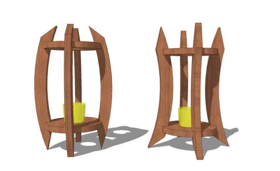 Freed plans to build Bowed Candle Holders.