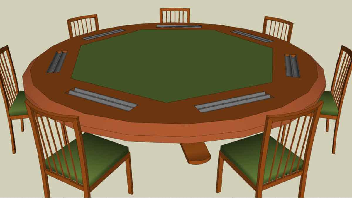 tables,poker,sketchup,Google 3D,card table,3-D warehouse,furniture,drawings,free woodworking plans,projects,do it yourself,woodworkers
