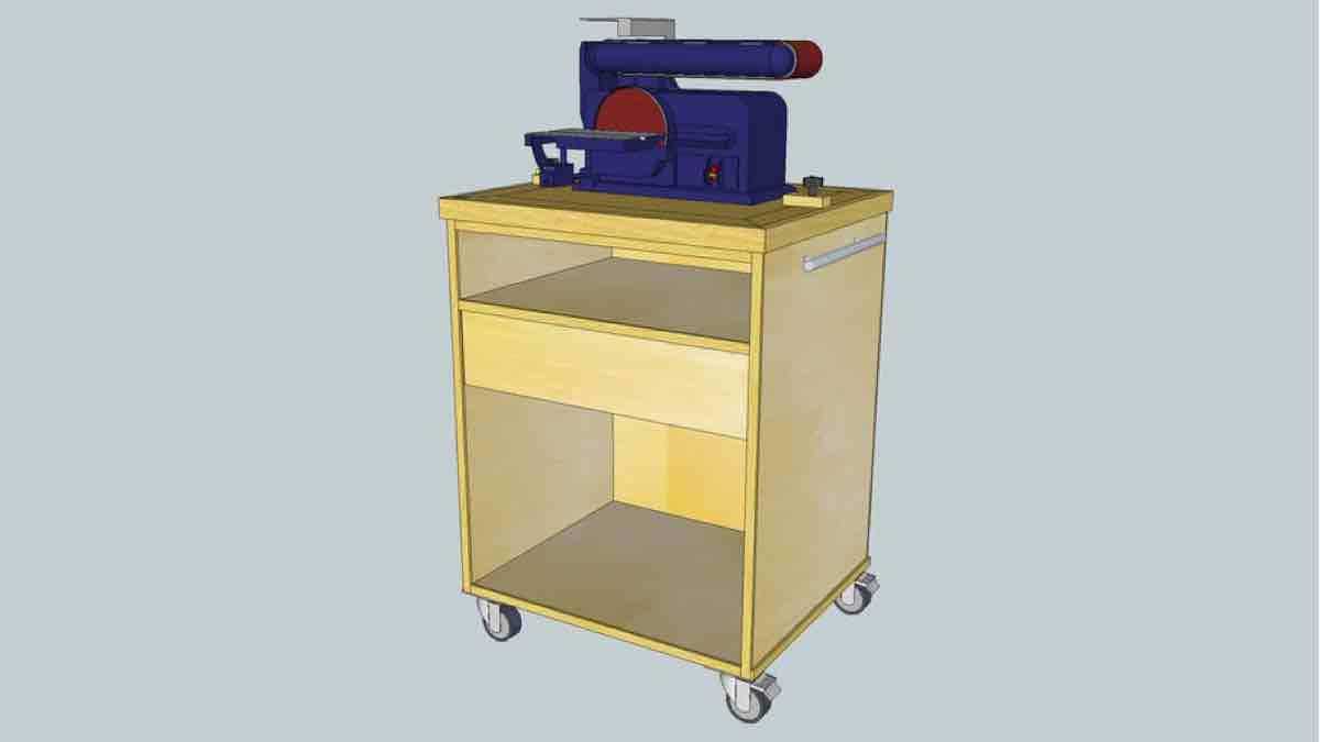 Roll Away Swap Top Workshop Cart Project Plans