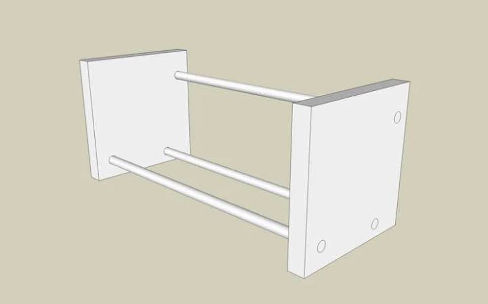 Free plans to build a CD holder.