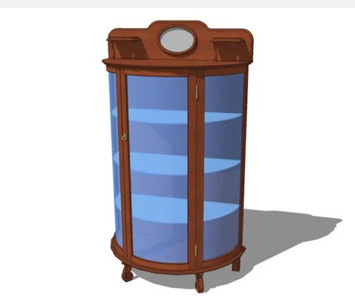 Free plans to build a Curio Cabinet.