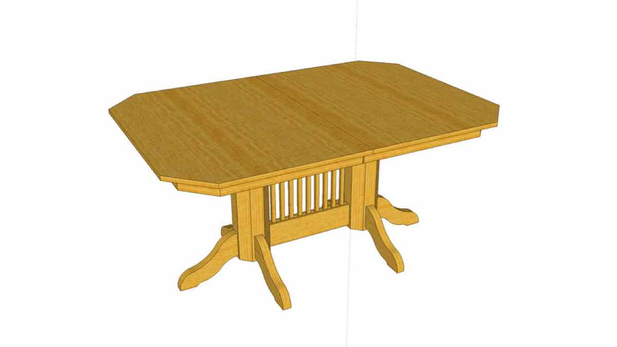 tables,sketchup,Google 3D,pedestal table,dining room,3-D warehouse,furniture,drawings,free woodworking plans,projects,do it yourself,woodworkers