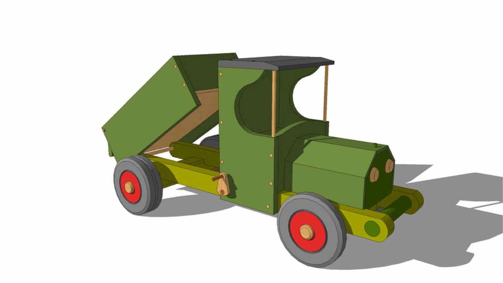 trucks,dump trucks,sketchup,Google 3D,3-D warehouse,childs,childrens,kids,toys,furniture,drawings,free woodworking plans,projects,do it yourself,woodworkers