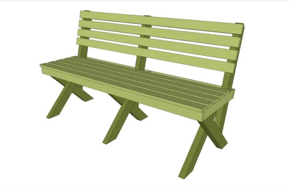 Free plans to build an Easy Garden Bench.