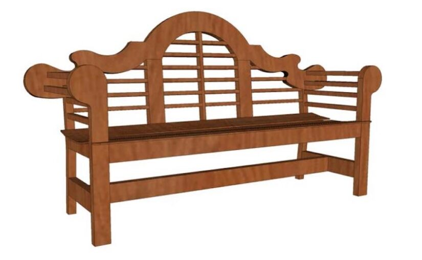Build a Garden Bench with free plans.