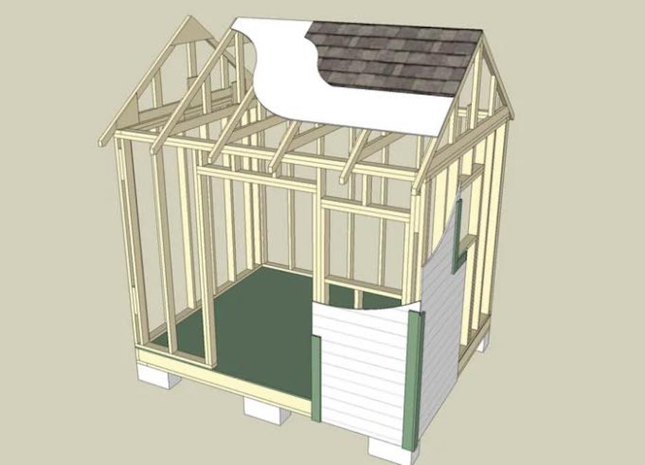 Build a Garden and Tool Shed with free plans.