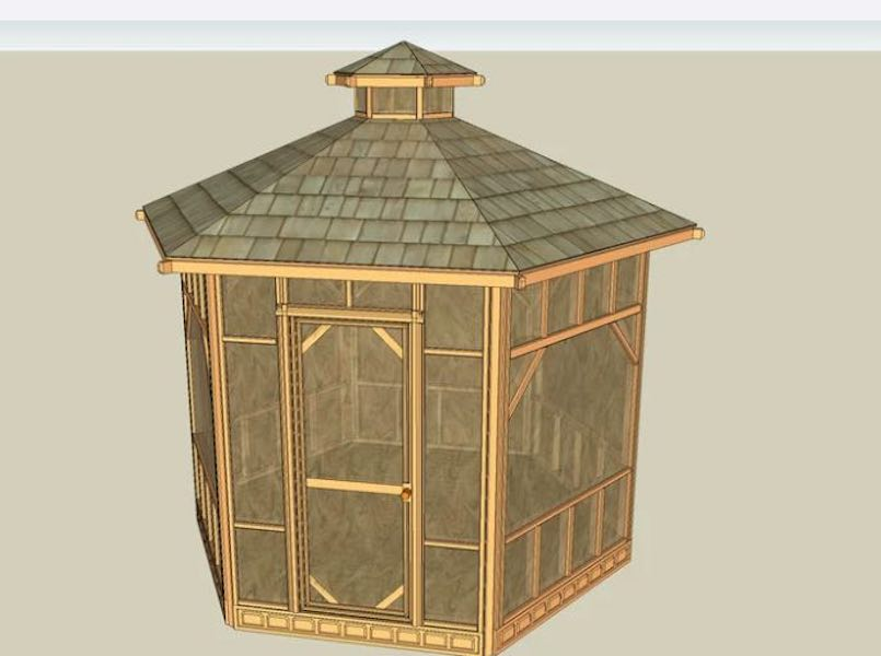 Build a Mosquito Proof Gazebo using free plans.
