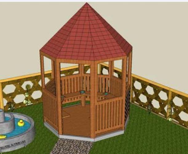 Free plans to build a Garden Gazebo.