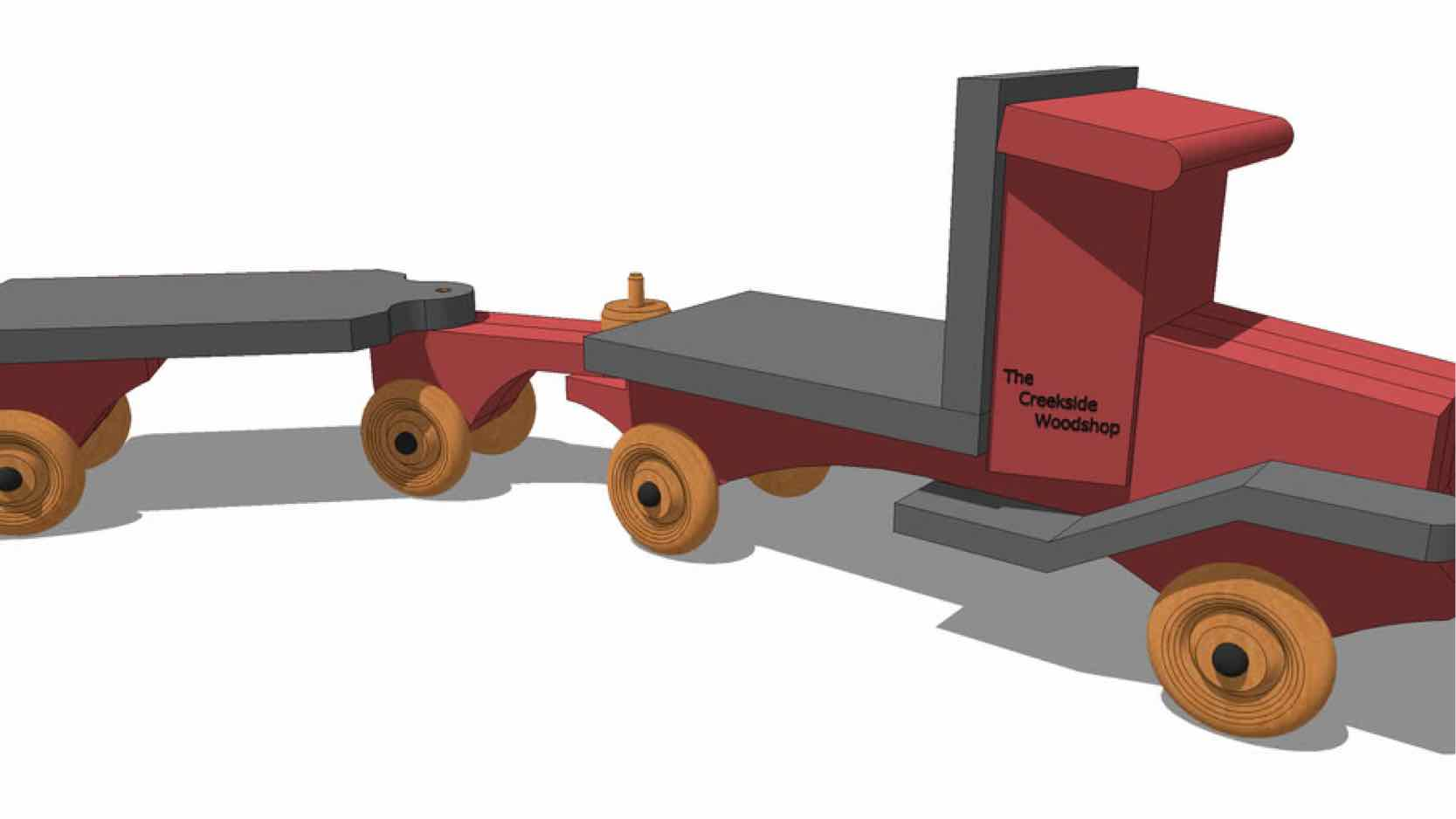 trucks,sketchup,Google 3D,3-D warehouse,truck and trailer,toys,games,childs,childrens,kids,furniture,drawings,free woodworking plans,projects,do it yourself,woodworkers