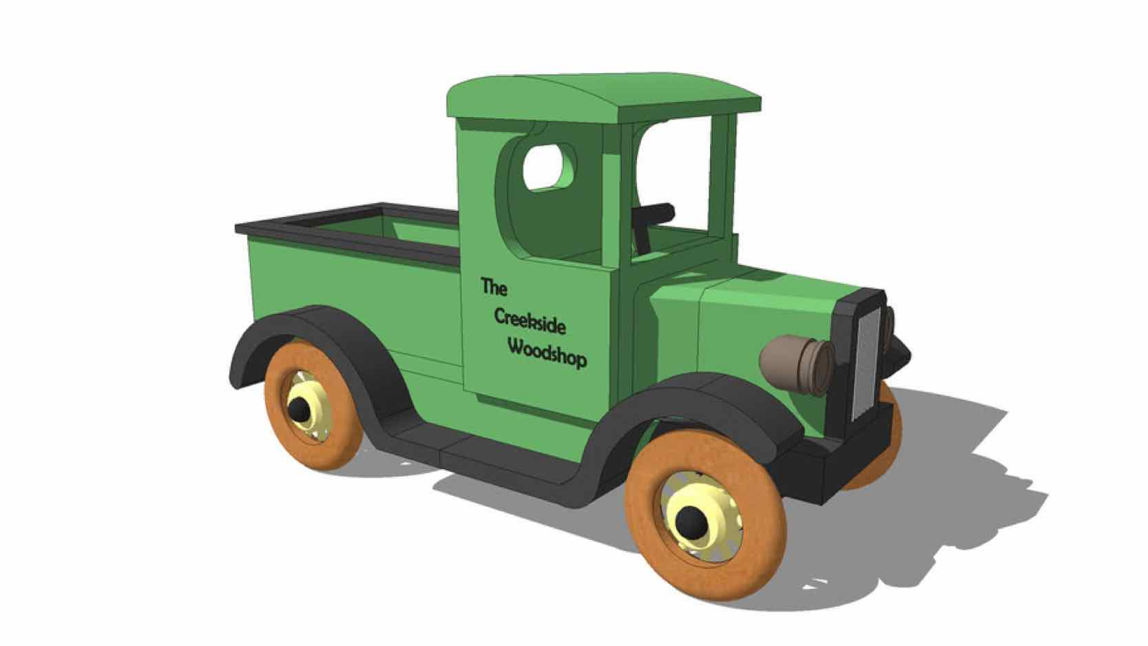 toys,trucks,models,sketchup,Google 3D,3-D warehouse,pickups,childschildrens,kids,,drawings,free woodworking plans,projects,do it yourself,woodworkers