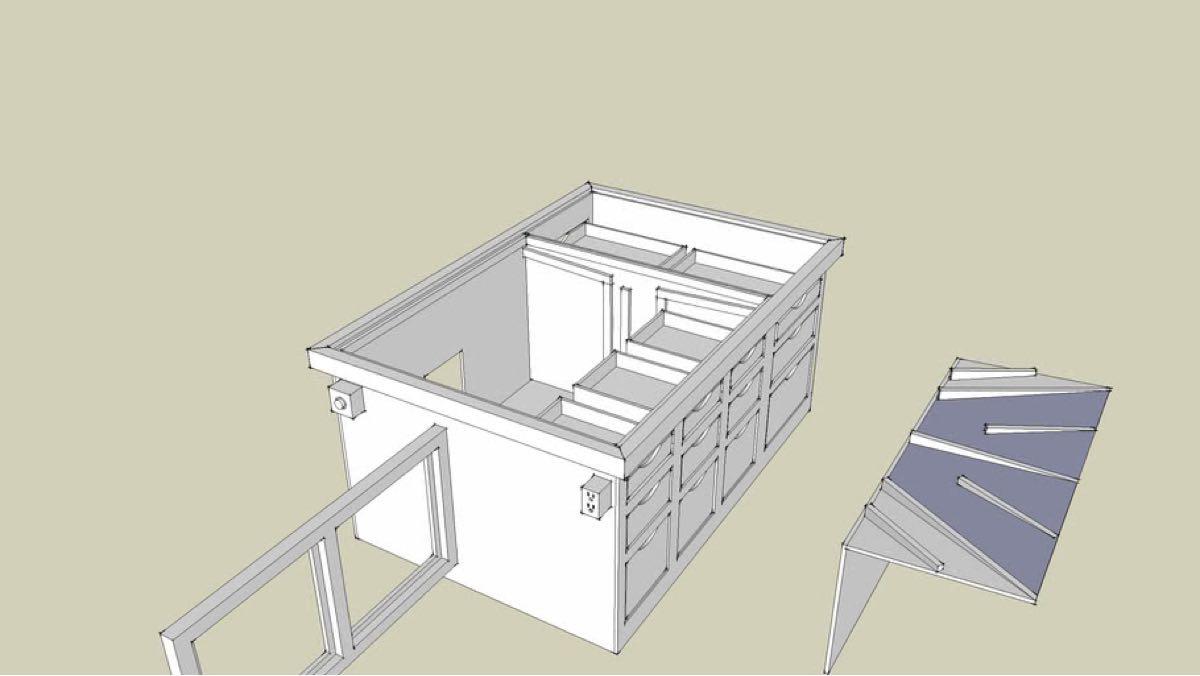 Downdraft Sanding Table Free SketchUp Workshop Plans