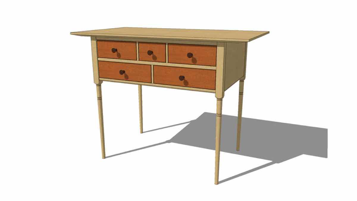 Shaker style Side Table Free Wood Plans