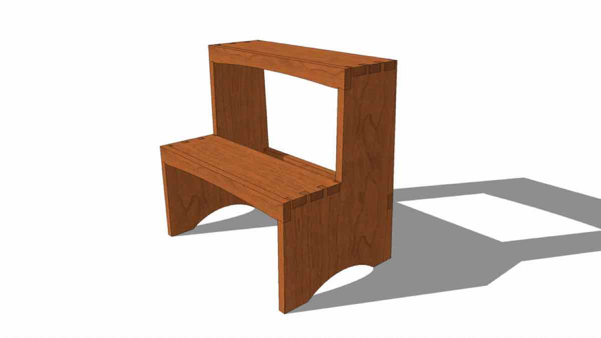 stools,sketchup,Google 3D,stepstool,step stools,3-D warehouse,furniture,drawings,free woodworking plans,projects,do it yourself,woodworkers