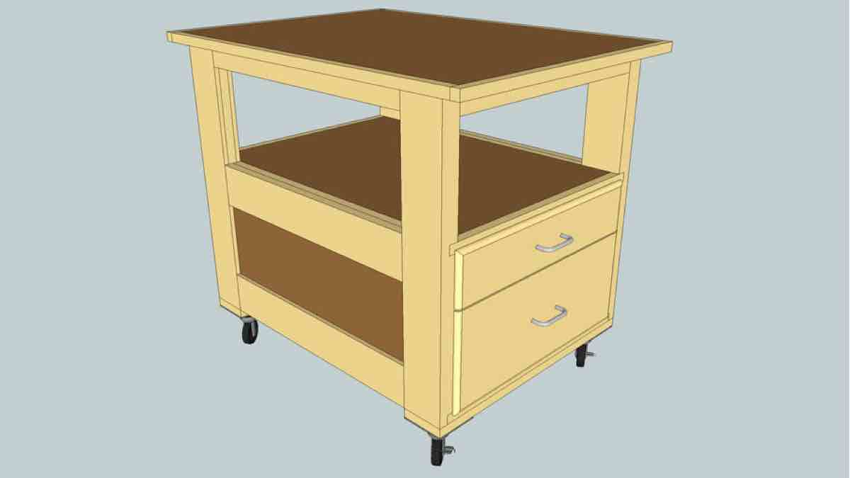 Roll Around Shop Cart SketchUp Project