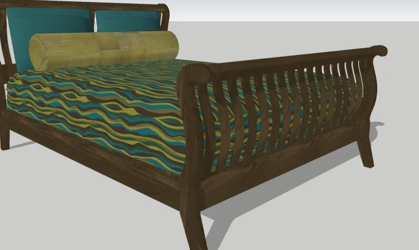 Learn how to build a Slatted Sleigh Bed.
