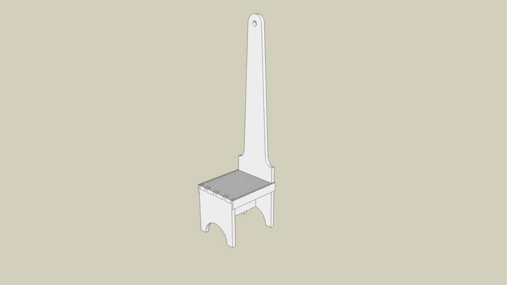 sketchup,stools,step stools,Google 3D,3-D warehouse,furniture,drawings,free woodworking plans,projects,do it yourself,woodworkers