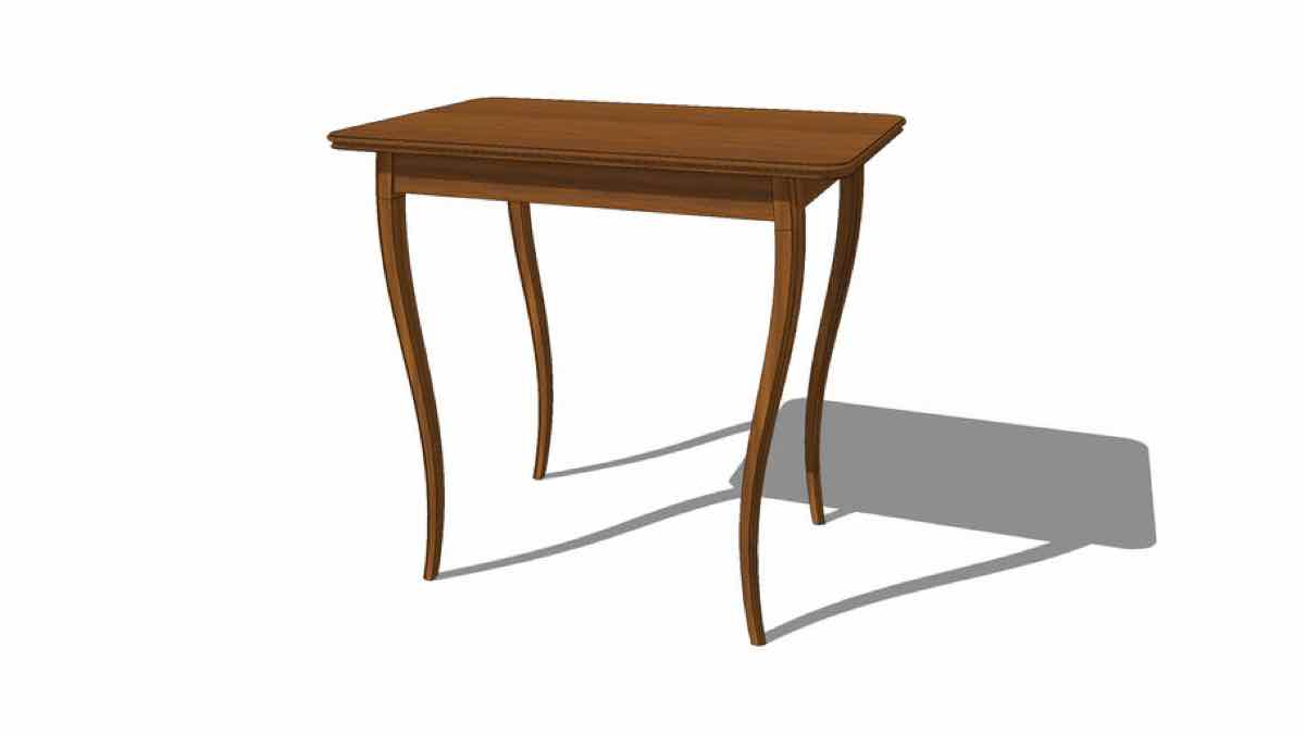 tables,sketchup,Google 3D,3-D warehouse,curved legs,furniture,drawings,free woodworking plans,projects,do it yourself,woodworkers