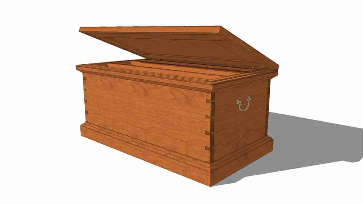 FineWoodworking Heirloom Tool Chest SketchUp drawing
