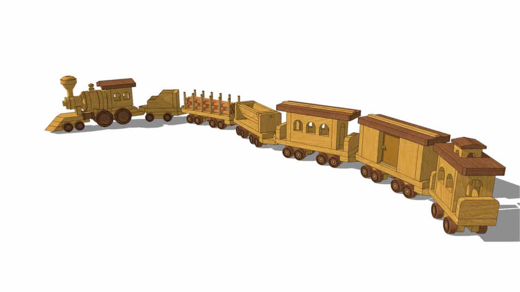 toys,trains,models,sketchup,Google 3D,3-D warehouse,childrens,childs,kids,wooden,drawings,free woodworking plans,projects,do it yourself,woodworkers