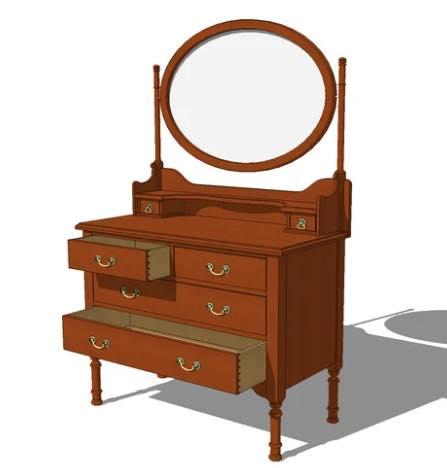 Victorian Vanity Chest