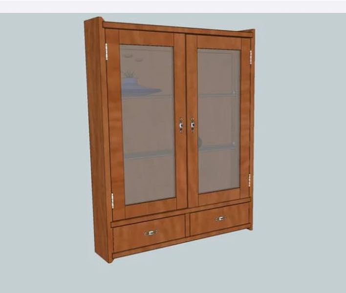 Free plans to build a Wall Display Cabinet.