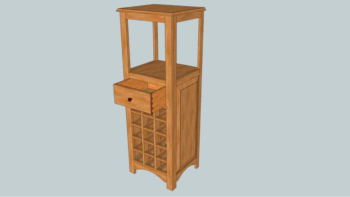 wine racks,wine cabinets,sketchup,Google 3D,3-D warehouse,furniture,drawings,free woodworking plans,projects,do it yourself,woodworkers