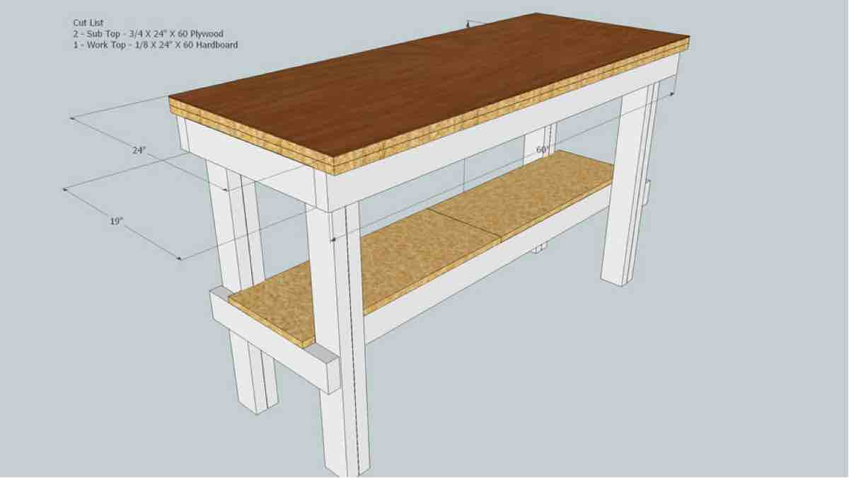 How to build a Simple Woodworking Bench free SketchUp project.