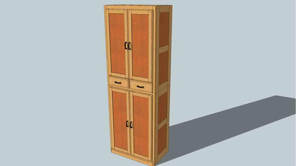 Workshop Storage Cabinet SketchUp Free Plan
