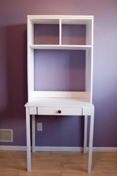 Build a Cubby Desk and Hutch using free plans.